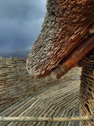 The edge of the crannog.