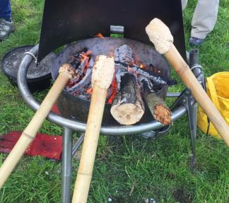 Making stick bread