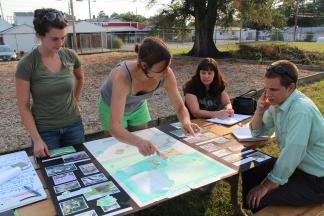 Community members plan a new urban adventure play environment.