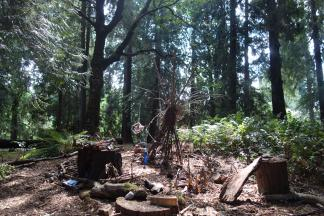 A view of the Fiddleheads fairy village.