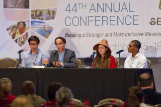 The conference included a discussion with Game Changers Under 25