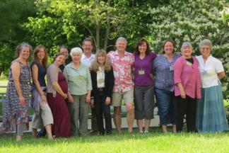 Attendees of the nature-based education meeting at the National Conservation Training Center.