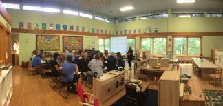 The indoor classroom at Elachee Nature Preschool