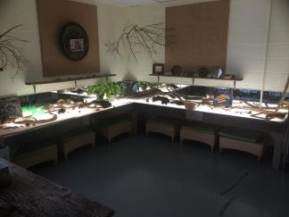 An extended light table at Turning Sun School.