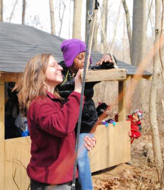Monica Wiedel-Lubinski with Ark student
