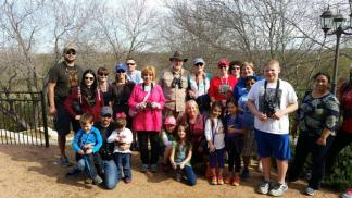 A hiking/bird watching trip at Mitchell Lake Audubon Center in San Antonio, Texas hosted by San Antonio Zoo's Family Nature Club.